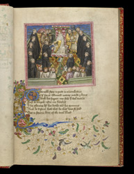 The Presentation Of A Manuscript To King Henry VI, In John Lydgate's 'The Lives Of Sts. Edmund And Fremund'